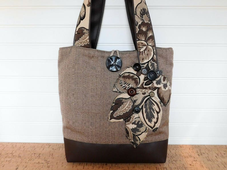 b1400f51b Grey Tote Bag Women Work Bag Teacher Tote with Pockets | Etsy