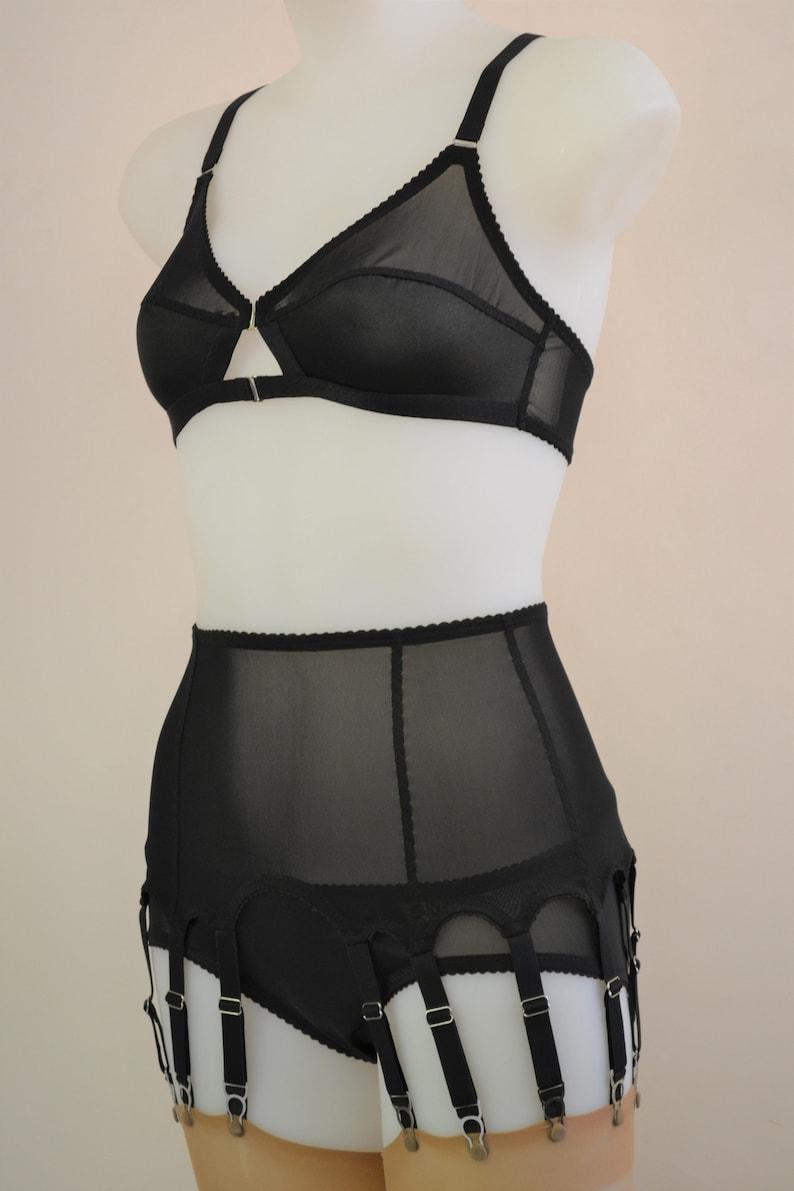 54caaf542 14 Strap Suspender Garter Belt. Vintage inspired sheer multi