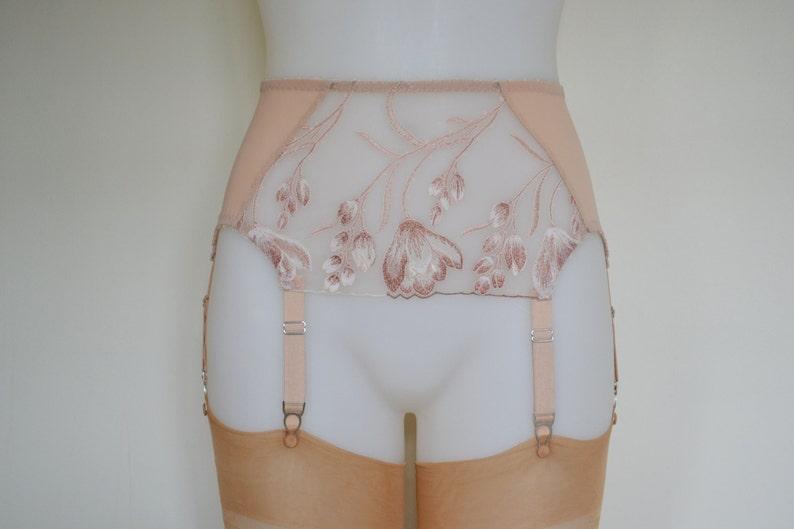 Biscotti Lace Retro Vintage Suspender Garter Belt 6 Strap Plus Size Lingerie