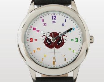 Armbanduhr EasyRead Lernuhr inkl. Download Tagesplaner, Übungsblatt, Basteluhr für Kinder ab 4 Jahren | Piratenkrake Weihnachtsgeschenk