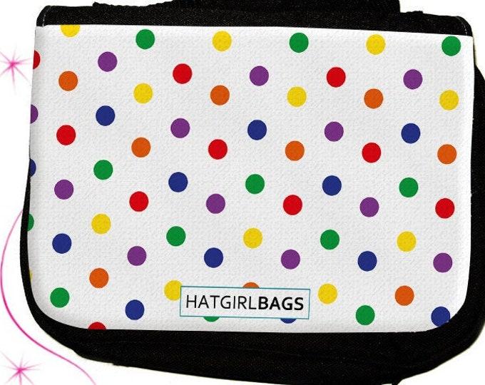 Colourful White- versch. Varianten der bunten farbenfrohen Regenbogen Kulturtasche als praktisches  zum  Weihnachtsgeschenk
