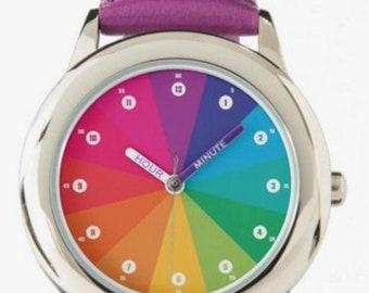 "Armbanduhr Lernuhr ""Regenbogen"""