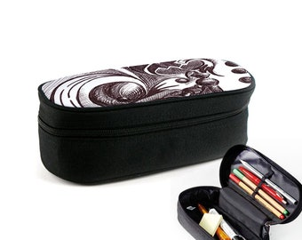 Chess Dimension case with zipper as junk folder, makeup case or eyeglass case Christmas gift