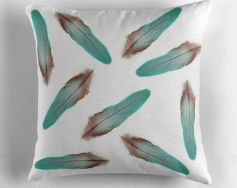 Colorful Feathers © hatgirl.de |  Living room cushion with cover as a noble gift for Mother's Day or to move / to the new apartment