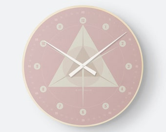 Retro watch geometry old pink by hatgirlDESIGN as a noble gift for new apartment/moving or Mother's Day