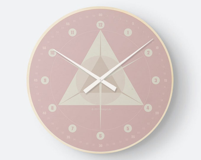 Retro watch geometry old pink by hatgirlDESIGN as a noble to new apartment/move or Christmas gift