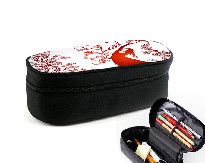 Flower wind case with zipper as junk folder, makeup case or eyeglass case Christmas gift