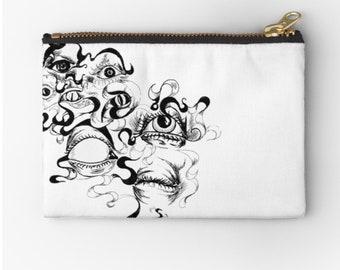 CLUTCH ArtBag Graphic Eyes © hatgirl.de Make-up bag Sloppy pencil case Ramschmappe