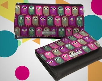 "Wallet leather exchange ""Owls"" as a Christmas gift"