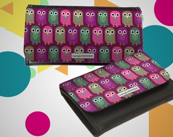"""Wallet Leather Exchange """"Owls"""" Mother's Day Gift Gift for Mother's Day"""