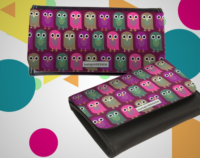 "Wallet Leather Exchange ""Owls"""