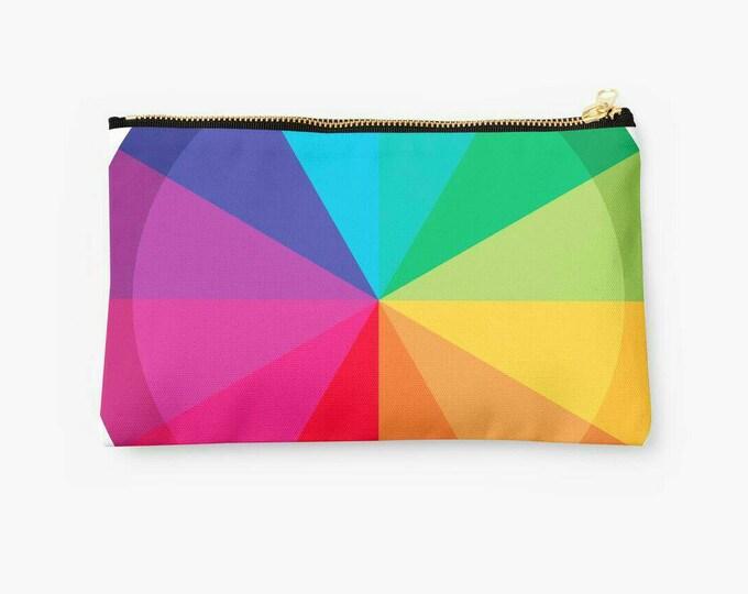 Colorful rainbow © hatgirl.de Studio Clutches Schminktasche Schlampermäppchen Federmappe Ramschmappe Schulanfang Weihnachtsgeschenk