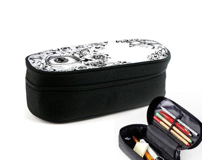 Eyes case with zipper as junk folder, makeup case or eyeglass case Christmas gift