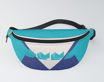 NAME IT- Many Colors, Your Name - Retro Graphic Design | Customizable Belt Bag | Add your name hatgirlBAGS