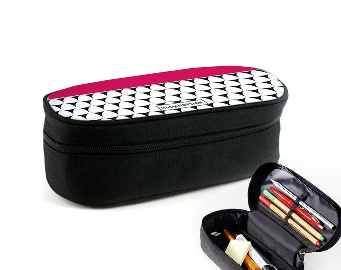 Colourful Neutral Pattern case with zipper as junk folder, makeup case or eyeglass case Christmas gift