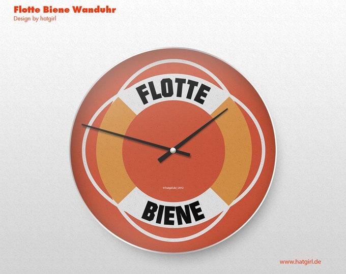 """Wanduhr Retro Grafik """"Flotte Biene"""""""