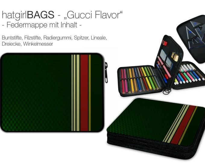 "Federmappe ""Gucci Flavour"", dunkelgrün edel, befüllt Weihnachtsgeschenk"