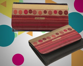 """Wallet leather case, purse """"button"""" vintage series Mother's Day gift gift for Mother's Day"""