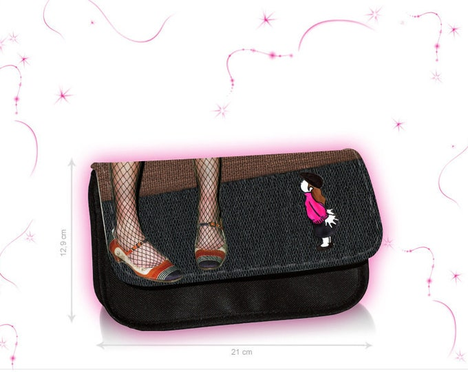 "Feather pocket-make-up bag ""Hutmadel"""