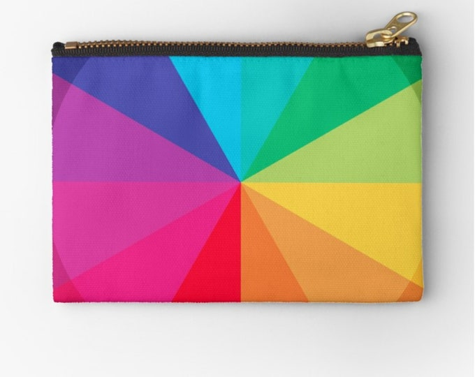 Minimal Rainbow Circle-studio Clutch