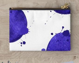 "CLUTCH ""Blue Watercolor"" © hatgirl.de Schminktasche Schlampermäppchen Federmappe Ramschmappe"