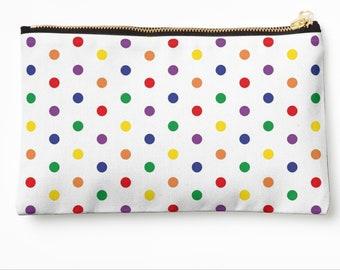 Case Colourful Polkadots © hatgirl.de make-up bag Sloppy pencil folder Ramschmappe School beginning Christmas gift
