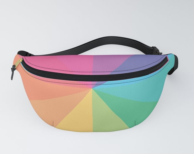 hatgirlBAGS belt bag rainbow circle colorful