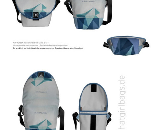 """Courier Bag """"Be and appearance"""" Div. Sizes"""