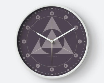 "RetroDesign watch geometry ""MettalicGrey"" by hatgirlDESIGN as a noble gift for new apartment/moving or Mother's Day"