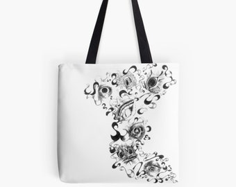 """Carrying bag Shopper ArtBag """"Eyes Symbiosis"""" as a chic gift for Mother's Day"""