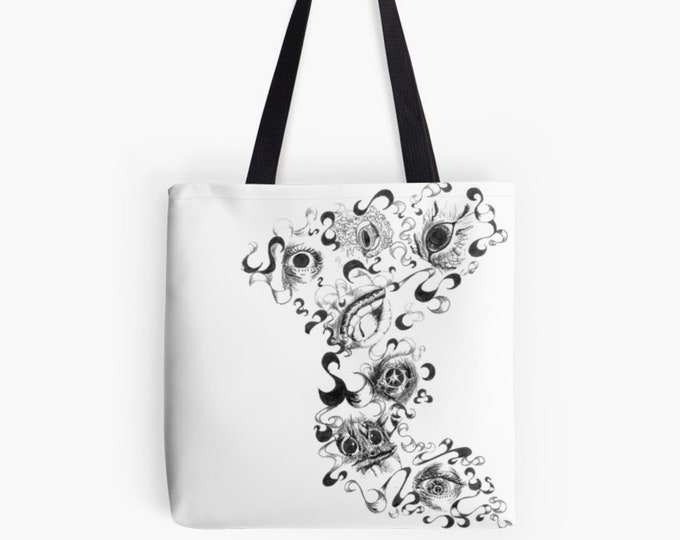 "Carrying bag Shopper ArtBag ""Eyes Symbiosis"" as a chic gift for Mother's Day"