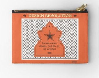 CLUTCH Revolution Design © hatgirl.de Schminktasche Schlampermäppchen Federmappe Ramschmappe