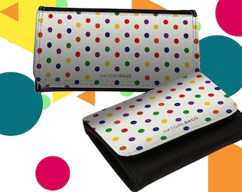 "Wallet leather exchange or women's leather exchange ""Colourful Polkadots"" as a Christmas gift"