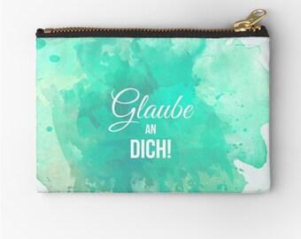 "Case ""Faith in You""© hatgirl.de make-up bag Schlampermäppchen Federmappe Ramschmappe Schulanfang"