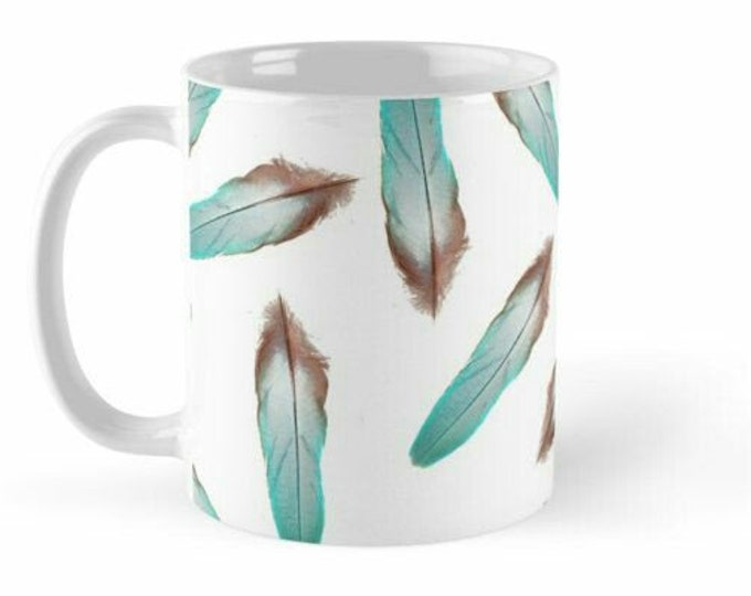 Cup Blue Feather