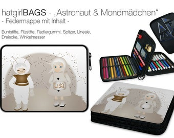 "Feather folder ""Astronaut-and-Moon Girl"""
