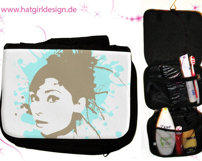 Spreadgirl- versch. Variations of colorful colorful rainbow toiletry bag toiletry bag as a practical gift for Mother's Day
