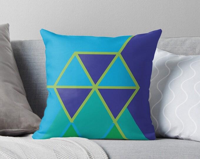 Hexagon  |  Wohnzimmerkissen mit Bezug  © hatgirl.de als edles Gschenk oder zum Umzug / zur neuen Wohnung Weihnachtsgeschenk