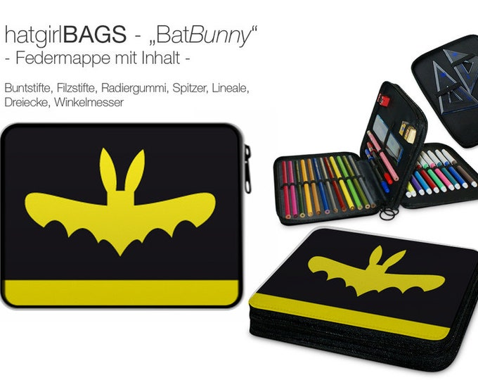 "Feather folder ""Your superhero name"" bat"