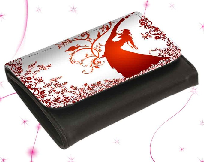 """Wallet Leather Exchange """"Flower Wind"""" Mother's Day Gift Gift for Mother's Day"""