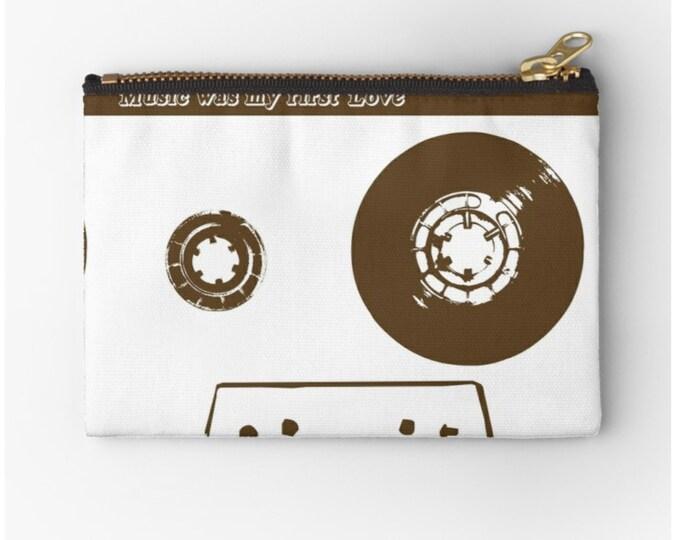 Etui Music was my first love © hatgirl.de Schminktasche Schlampermäppchen Federmappe Ramschmappe Schulanfang Weihnachtsgeschenk