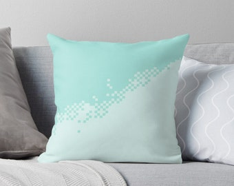 8Bit pixel pusher mint | Living room cushion with cover © hatgirl.de as a noble gon or to move / to the new apartment Christmas gift