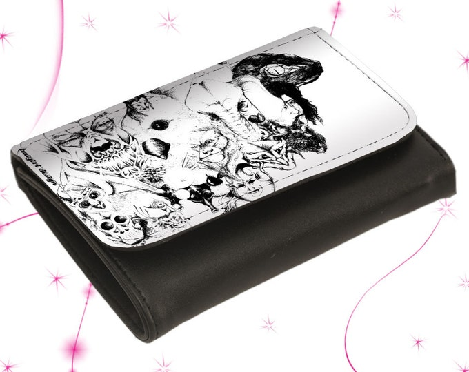 """Wallet Leather Exchange Purse """"Symbiosis"""" Mother's Day Gift Gift for Mother's Day"""