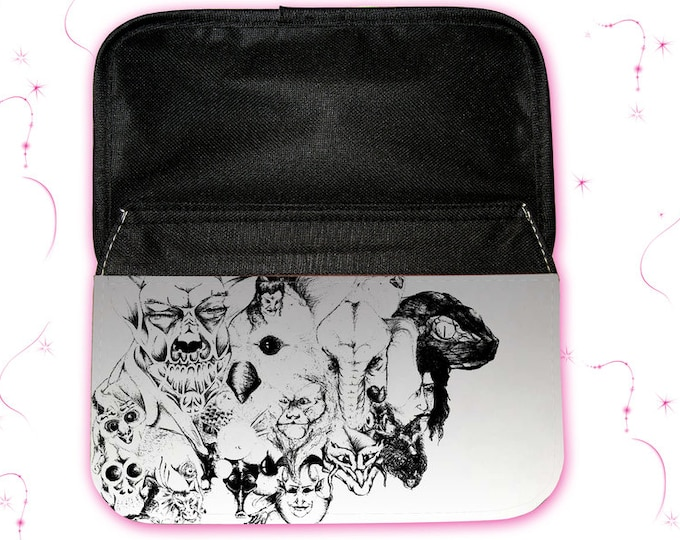 """Feather bag - Feather box with motif """"Symbiosis"""" Christmas gift"""