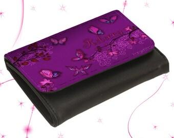"""Portemonnaie Lederbörse """"Curly Butterfly""""   zum  Weihnachtsgeschenk"""