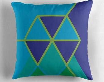 Hexagon © hatgirl.de |  Living room cushion with cover as a noble gift for Mother's Day or to move / to the new apartment