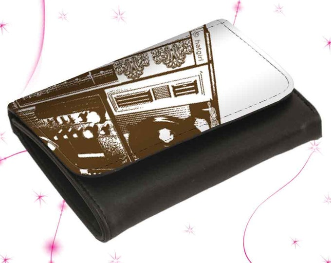 """Wallet Leather Purse """"Ghettoblaster"""" Mother's Day Gift Gift for Mother's Day"""