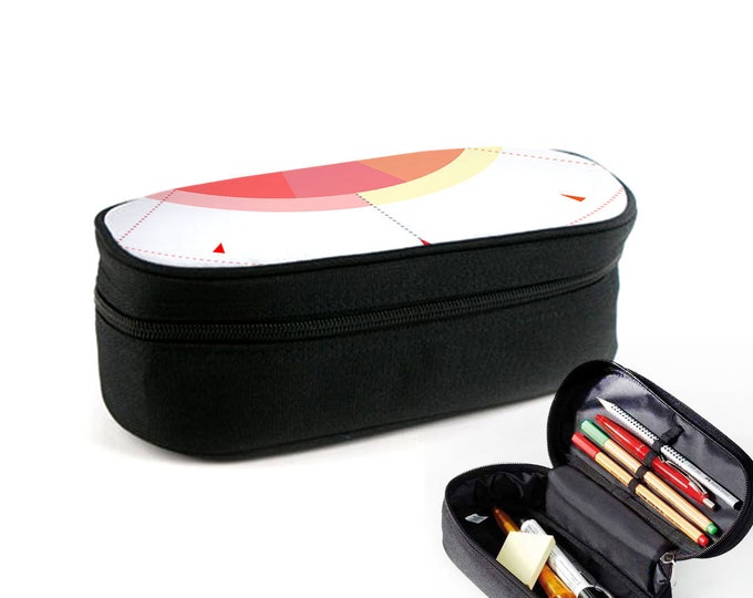 Rainbow Circles case with zipper as junk folder, makeup case or eyeglass case Christmas gift