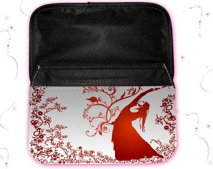 "Feather Bag- Make-up Bag""Flower Wind"" Christmas Gift"