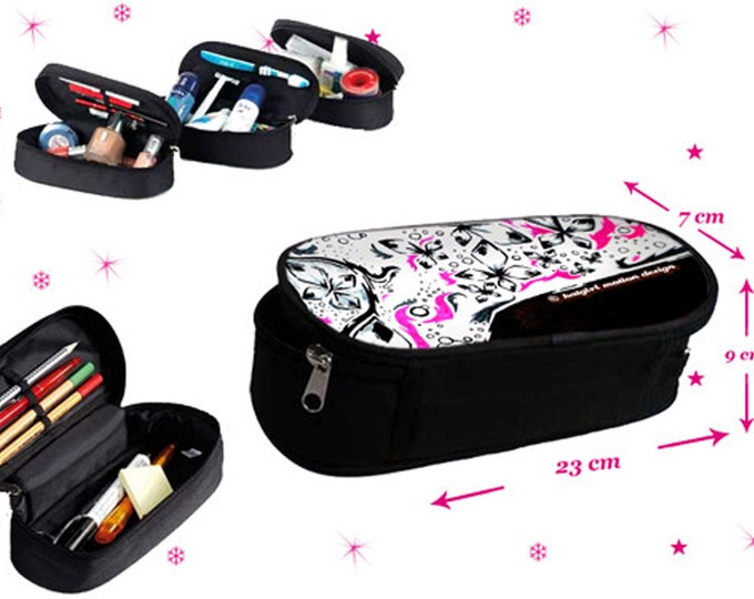 Emotional design case with zipper as a ram bag, make-up case or eyeglass case